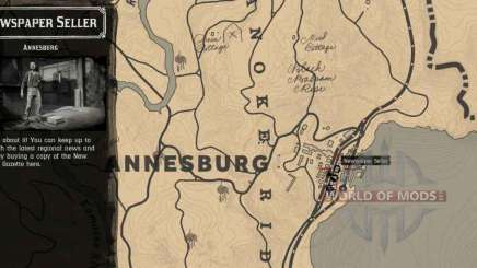 newspaper Seller in Annesburg-detailed map