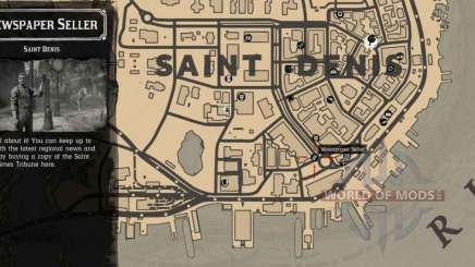 newspaper Seller in Saint-Denis-detailed map