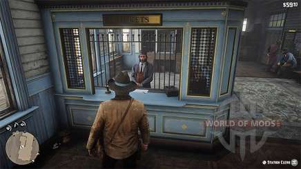 Buying a ticket on the train in RDR 2