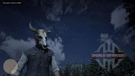 Arthur in the skull mask