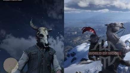 Morion Helmet and skull mask in RDR 2