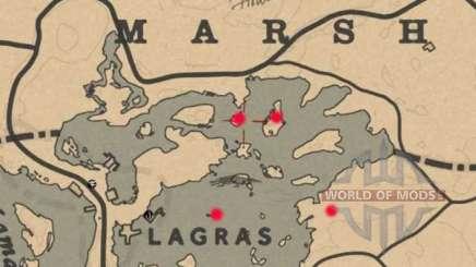 Blackwater swamp treasure Map in Red Dead Online