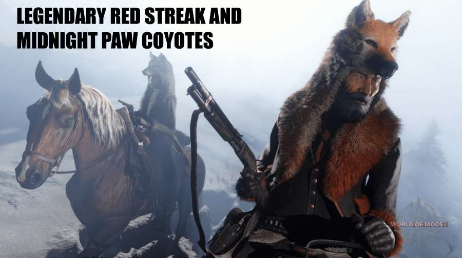 Legendary coyote Red Back and a Black paw