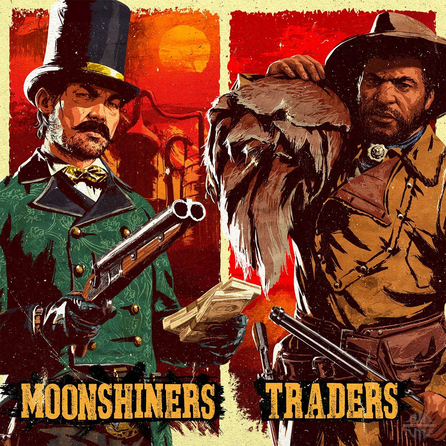 Traders and moonshiners in Red Dead Online