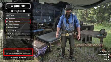 Clothing in camp in RDR 2
