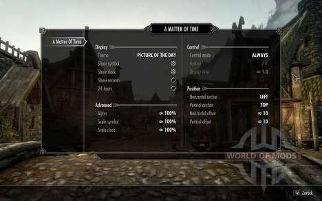 HUD Clock Widget for Skyrim fifth screenshot