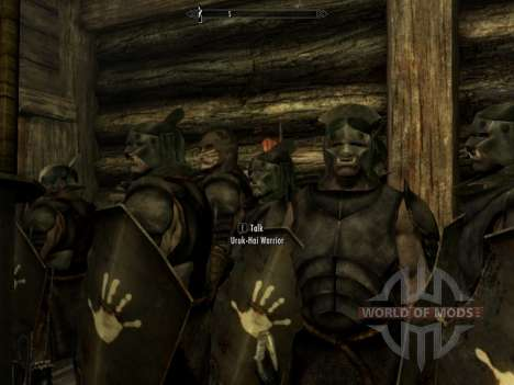 Uruk-Hai Lurz and coloring to Uruk-Hai orcs for the third Skyrim screenshot