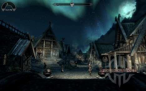 HUD Clock Widget for Skyrim second screenshot