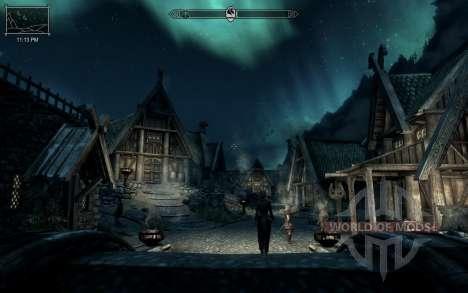 HUD Clock Widget for the fourth Skyrim screenshot