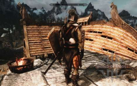 A set of armor and weapons of the Uruk-Hai for the fourth Skyrim screenshot
