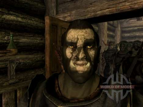 Uruk-Hai Lurz and coloring to Uruk-Hai orcs for the fourth Skyrim screenshot