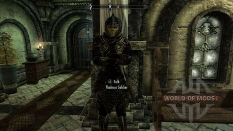 Black and gold elven armor for the third Skyrim screenshot