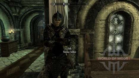 Black and gold elven armor for the fourth Skyrim screenshot