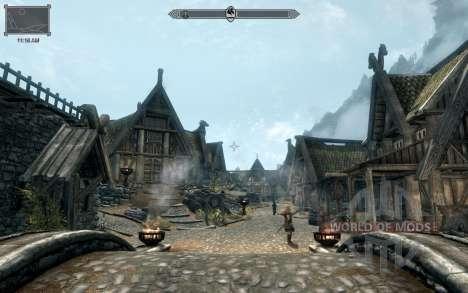 HUD Clock Widget for the third Skyrim screenshot