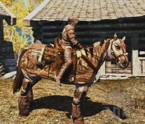 Armor for horses for the third Skyrim screenshot