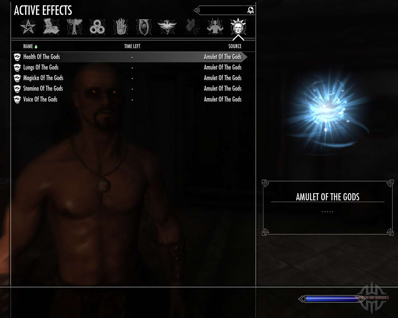 Amulet of the gods for Skyrim