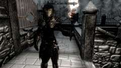 Black and gold elven armor