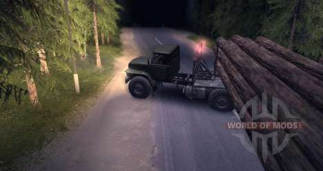 The Urals timber carrier for Spin Tires