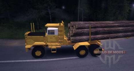 Hayes HQ 142 (HDX) timber truck with semi-traile for Spin Tires
