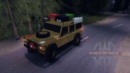 Land Rover Defender 110 CAMEL TROPHY for Spin Tires