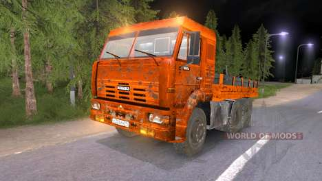 KAMAZ-65117 muddy-Orange for Spin Tires