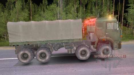 KamAZ 8x8 for Spin Tires