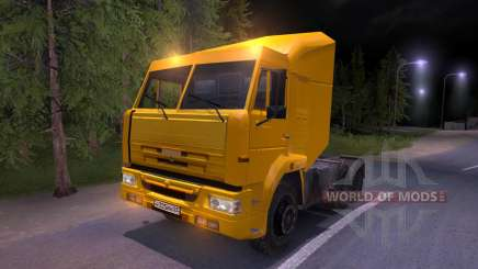 KAMAZ-65116 yellow for Spin Tires