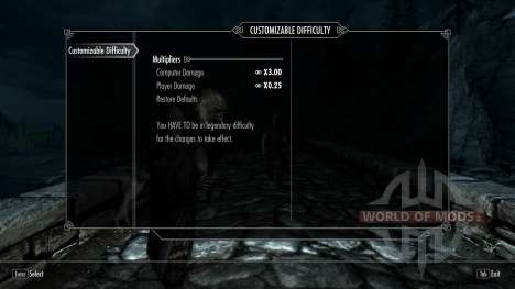 Customizable Difficulty for Skyrim