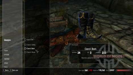 Protective clothing Cicero for Skyrim