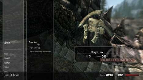 Weight loss drakonih bones for Skyrim