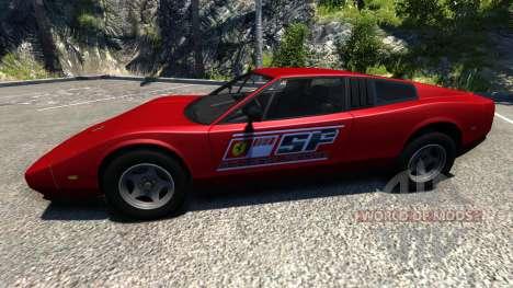 Civetta Bolide Ferrari Red for BeamNG Drive