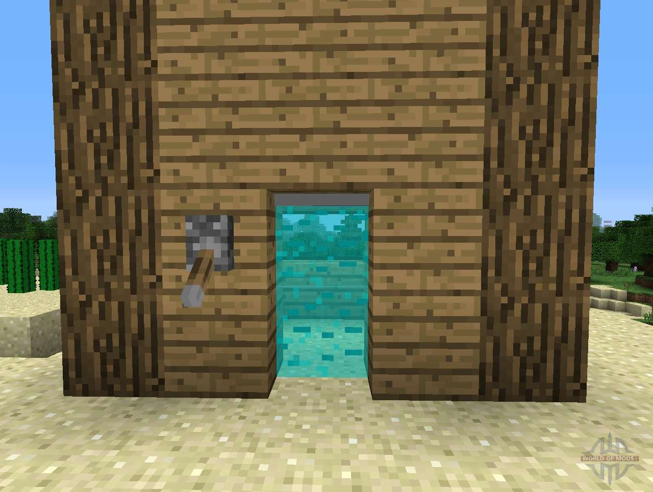 & Light Bridges Mod - length doors for Minecraft azcodes.com
