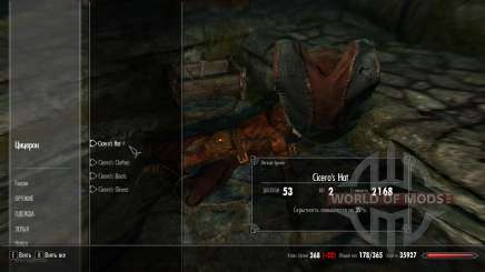 Protective clothing Cicero for Skyrim