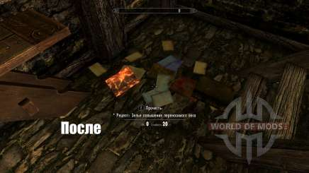 Unread books glow-highlighting unread books for Skyrim