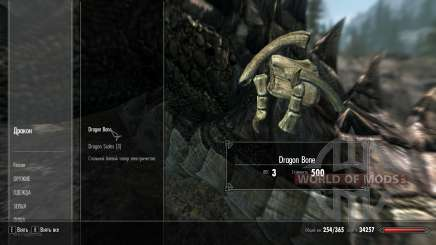 Weight loss drakonih bones for Skyrim