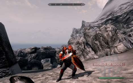 Armor and weapons dragon Knight of dota 2 for the third Skyrim screenshot
