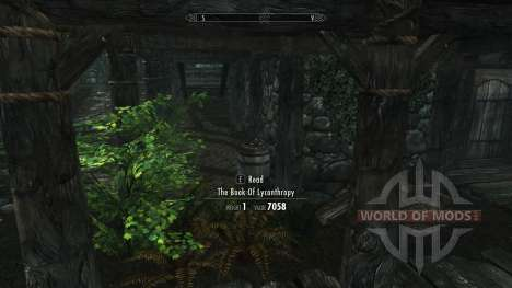 Get perks lycanthropy without skill for Skyrim