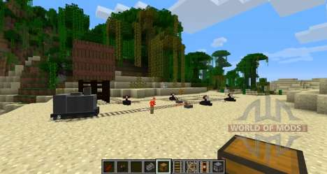 Recycled Kraft rails for Minecraft