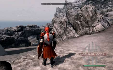 Armor and weapons dragon Knight of dota 2 for Skyrim