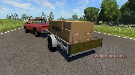 Pickup truck with trailer for BeamNG Drive