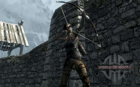 Clothing and weapons of Lara Croft for the third Skyrim screenshot