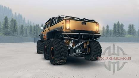 Hummer H2 SUT 6x6 for Spin Tires