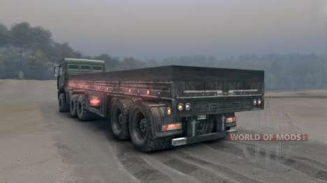 Side semitrailer for Spin Tires