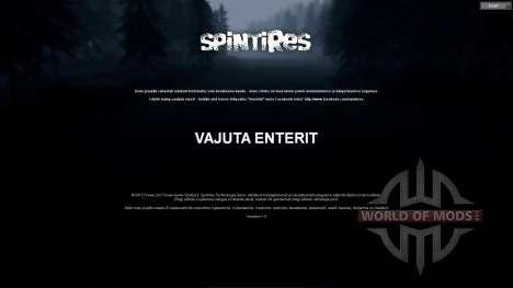 Estonian translation for Spin Tires