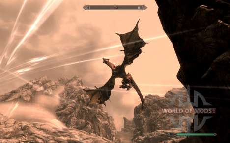 Armor and weapons dragon Knight of dota 2 for the fourth Skyrim screenshot