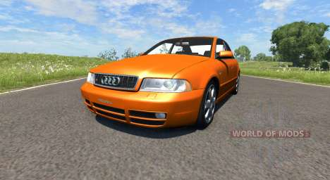 Audi S4 2000 [Pantone Orange 021 C] for BeamNG Drive