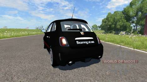 Fiat 500 Abarth Black for BeamNG Drive