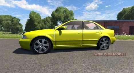 Audi S4 2000 [Pantone Yellow 012 C] for BeamNG Drive