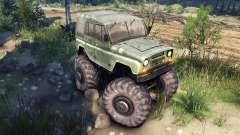 УАЗ-469 Monster Truck v2 for Spin Tires
