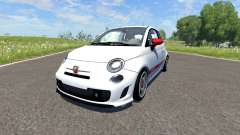 Fiat 500 Abarth White for BeamNG Drive